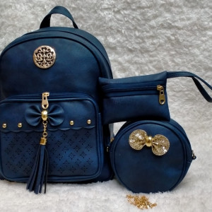 Shoulder Bags For Girls Blue Color 3 Piece QB00113