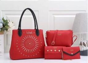 Chanel Ladies Bag 4 Piece Red Color QB00106