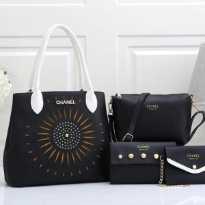 Chanel Ladies Bag 4 Piece Black Color QB00105
