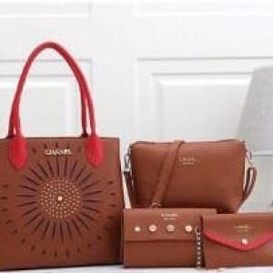 Chanel Ladies Bag 4 Piece Brown Color QB00107