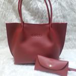 Gucci Ladies Bag 2 Piece Mehroon Color QB00104