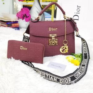 Dior Ladies Bag 2 Piece Pink Color QB00126