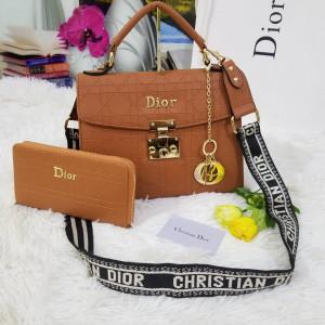 Dior Ladies Bag 2 Piece Brown Color QB00125