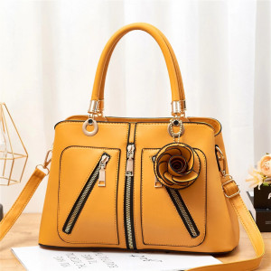 Stylish Ladies Bag Yellow Color QB00139