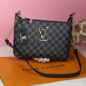 LV Ladies Bag Black And Grey Color QB00130