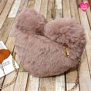 Ladies Shoulder Bag Love Style Pink Color QB00145