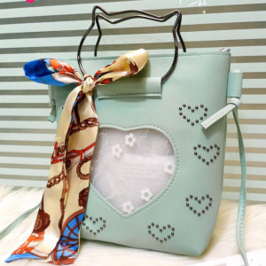 Kitti Hand Bags For Girls See Green Color QB00121