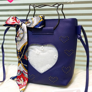 Kitti Hand Bags For Girls Blue Color QB00120