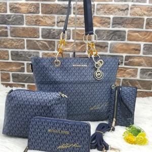 Michael Kors Ladies Hand Bag 4 Piece Branded Bag With Leather Stripe QB00300