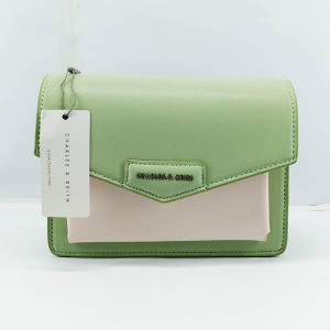 Charles & Keith Ladies Shoulder Bag With  Leather Stripe QB00370