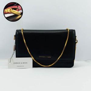 Charles & Keich Ladies Shoulder Bag With Chain QB00371