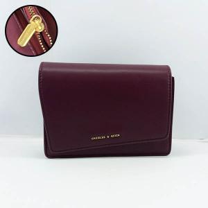 Charles & Keich Ladies Shoulder Bag With Leather Stripe QB00372