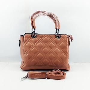 Ladies Shoulder Bag With Leather Stripe QB00378
