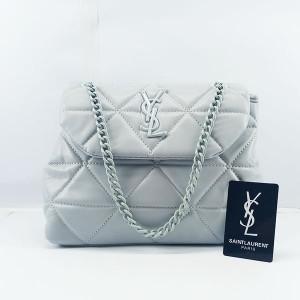 YSL Ladies Shoulder Bag With Chain & Leather Stripe QB00382