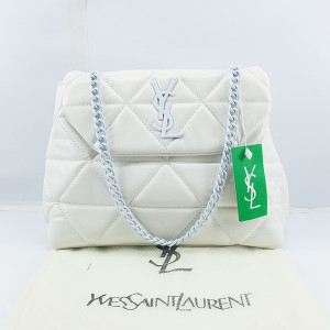 YSL Ladies Shoulder Bag With Chain & Leather Stripe QB00383