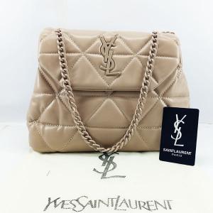 YSL Ladies Shoulder Bag With Chain & Leather Stripe QB00384