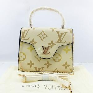LV Ladies Shoulder Bag 2 Piece With Chain & Leather Stripe QB00388