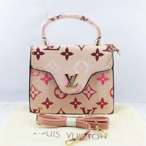 LV Ladies Shoulder Bag 2 Piece With Chain & Leather Stripe QB00387