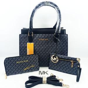 Michael Kors Ladies Hand Bag 3 Piece With Leather Stripe QB00395