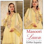 Maria B Ladies Suit Yellow Color Hit Code QS00106