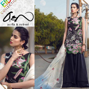 Asifa & Nabeel Ladies Suit Eid Collection Hit Code QS00134