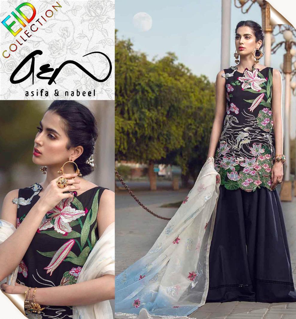 Asifa & Nabeel Ladies Suit Eid Collection Hit Code QS00134