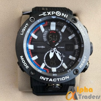 Exponi Men Rubber Watch With Many Features