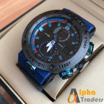 Exponi Men Rubber Watch With Blue Beautiful Rubber Band