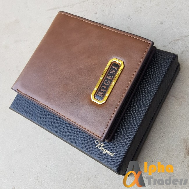 Bogesi  WL149 Original Leather Pocket Wallet Brown