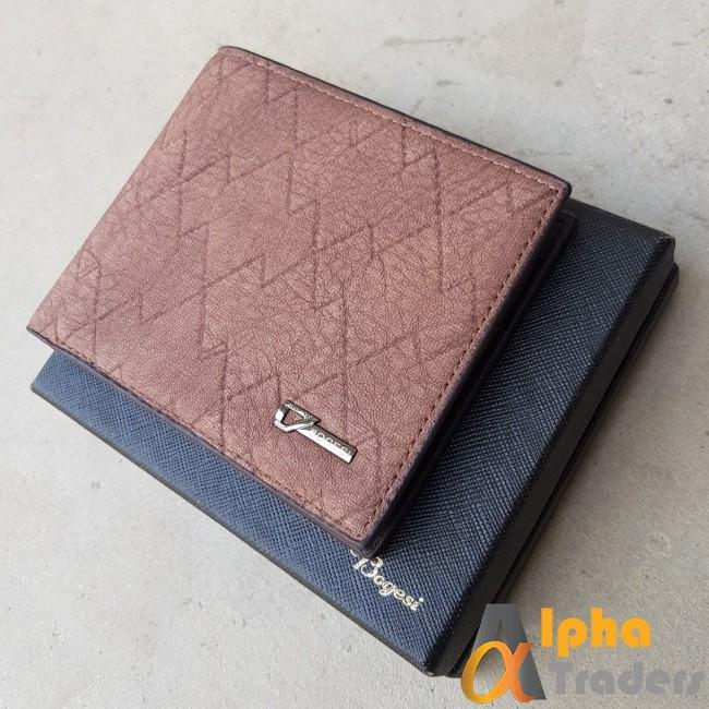 Bogesi WL153 Original Leather Wallet Black Texture