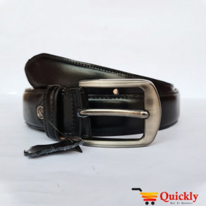 Export BT104 Quality Plain Black Leather Belt