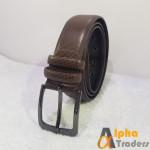 Genuine BT113 Leather Dark Brown Imported Belt