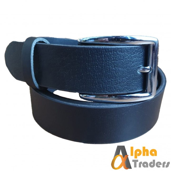 Black Belt with Silver Shine Buckle