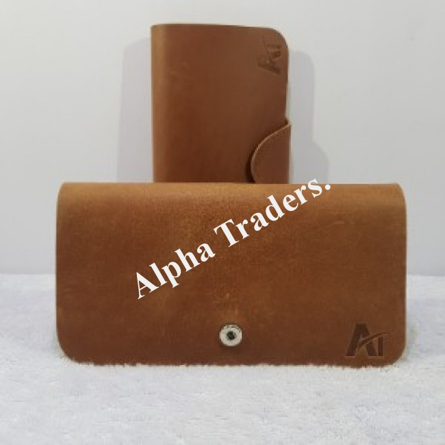 Genuine AT00361 Leather Pull Wallet