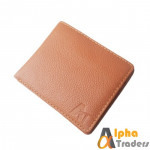Genuine Leather Mild Brown Color AT Brand Wallet