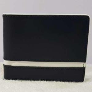 Black WL112 Genuine Leather Mutli Color Wallet