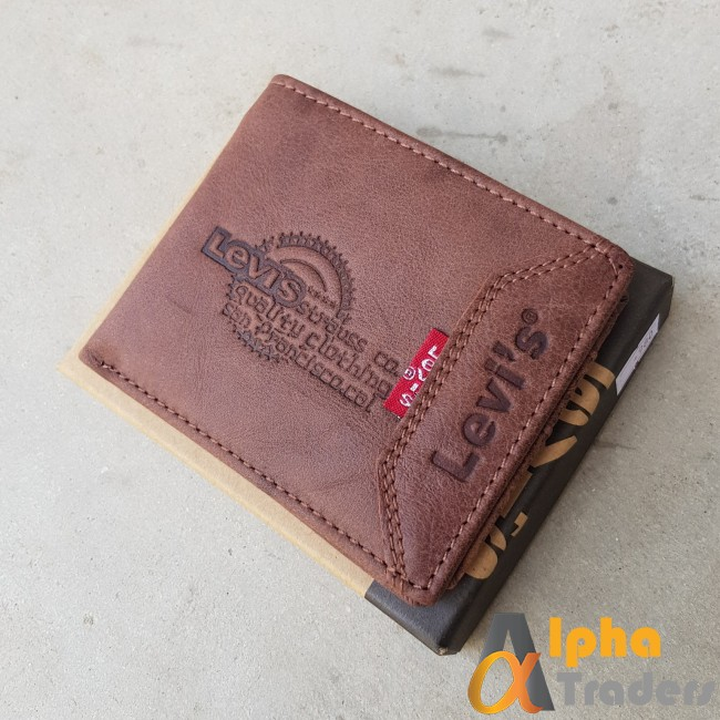 Levis WL158 Leather Wallet Brown