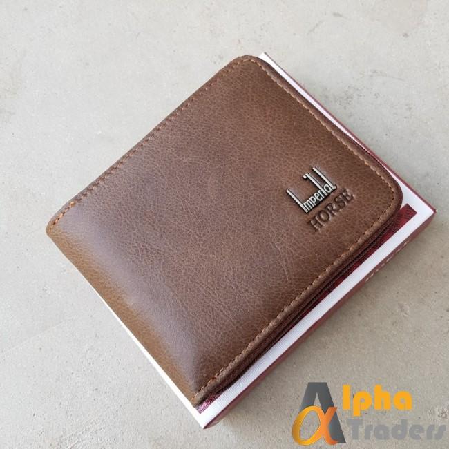 Horse WL147 Imperial Original Leather Wallet Black Texture