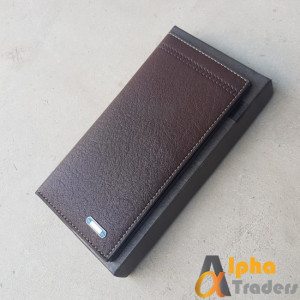 Bovis WL128 Stylish Leather Long Wallet Brown