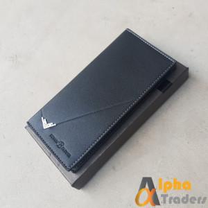 Bovis WL129 Original Luxuries Leather Long Wallet Black