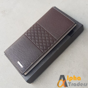 Bovis WL131 Original Leather Long Wallet  Dark brown