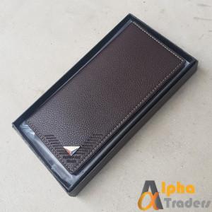 Bovis WL132 Original Leather Long Wallet designed Brown