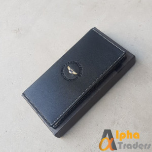 Bovis WL134 Original Leather Long Wallet Black Color