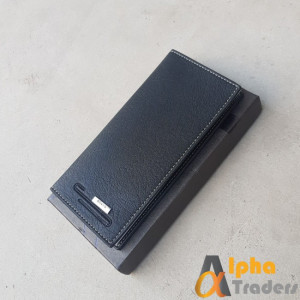 Bovis WL138 Original Leather Long Wallet Black