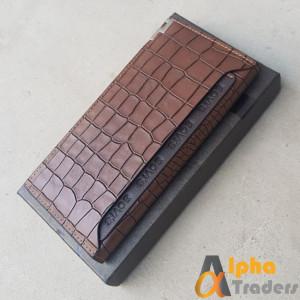 Bovis WL124 Original Leather Long Wallet Texture