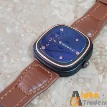 Seven Friday C95 Brown Watch Leather Strap Seven Friday