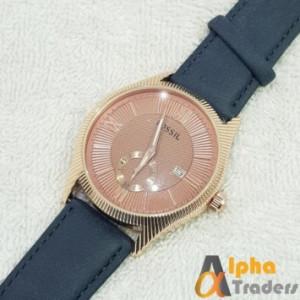 Fossil W063 Watch Leather Strap Stylish Watch