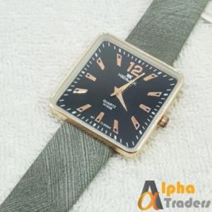 Xenlex X-1638G Leather Strap Watch
