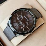 Emporio Armani AR-2462  Strap Black Chronograph Watch With Date
