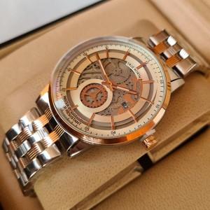 True Worth 2341 Rose Gold & White  Chain Strap Watch